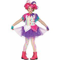 Fun World Big Girl's Rainbow Harlequin Teen Halloween Costume Childrens Costume, Multi, Extra Large Best Halloween Costumes & Dresses USA Halloween Clown, Halloween Costumes For Teens, Halloween Fancy Dress, Girl Costumes, Costumes Couture, Halloween Dinner, Carnival Costumes, Costume Ideas, Party
