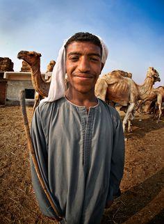 Egypt, Camel Herder Giza   ©2014 John Galbreath