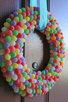how to make wreaths with candy | Christmas Candy Crafts: How to make Candy Trees and Candy Wreaths ...