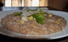 FORNELLI IN FIAMME: RISOTTO WITH RED WINE, NOSTRALE DI ONCINO CHEESE A...