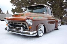 More Vintage Cars Hot Rods and Kustoms New Pickup Trucks, Custom Chevy Trucks, Chevy Pickup Trucks, Classic Chevy Trucks, Gm Trucks, Cool Trucks, Truck Mods, Classic Cars, Chevrolet 1957