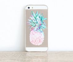 Pineapple iPhone 6 Case Clear Rubber iPhone 5 Case Clear Pineapple iPhone 5 Case iPhone 6 Case Pineapple Rubber Samsung Galaxy S5 Case Clear