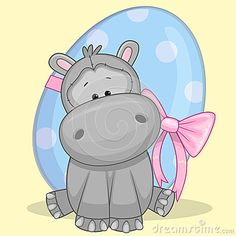 - Latest Illustrations, Vectors & Clipart - Page 6 Cute Paintings, Beautiful Paintings, Cute Cartoon, Cartoon Art, Pictures To Paint, Cute Pictures, Cute Hippo, Unicorn Pictures, Welcome To The Jungle