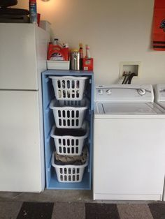 Laundry Sorter | Do It Yourself Home Projects from Ana White.....don't need the laundry thing but just like the idea overall. Toys, books,,crafts?: