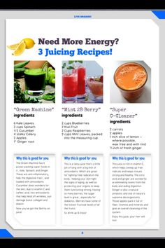 Juicing recipes I am going to try the carrot energy juice Apple Smoothies, Healthy Smoothies, Healthy Drinks, Healthy Recipes, Detox Smoothies, Breakfast Smoothies, Tea Recipes, Healthy Snacks, Vegetables