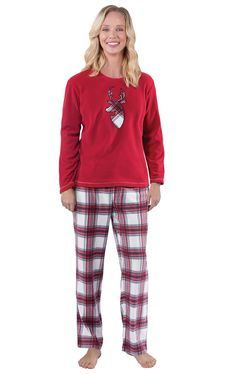 747b908b27 Fireside Plaid Fleece Matching Family Pajamas