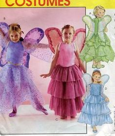 Sewing Patterns,Vintage,Out of Print,Retro,Vogue Simplicity McCall's,Over 7000 - McCall's 4144 Girl's Fairy Costumes with Wings Uncut