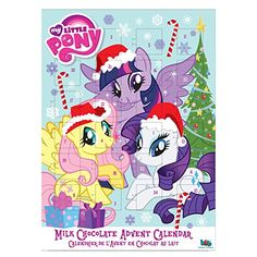 Advent calendar for the brony in your life. My Little Pony calendar filled with milk chocolate. My Little Pony Backpack, Advent Calendars For Kids, Emo Goth, Nerd Geek, Hermione Granger, Cute Funny Animals, Cami, Baby Strollers, Dog Cat