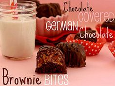 Chocolate Covered German Chocolate Brownie Bites- confessionsofacookbookqueen.com