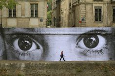 Street Art-Les yeux de Paris-Paris'eyes-