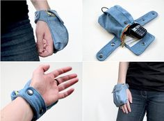 This is a hand/wrist purse/wallet?! I bet I could make that..