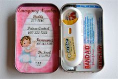 38 Uses for Tin Boxes  Pocket sized mint tins become paint sets, doll houses, gardens, business card holders, tic tac toe boards etc