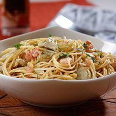 Spaghetti with Roasted Artichokes, Pine Nuts and Golden Raisins Allrecipes.com