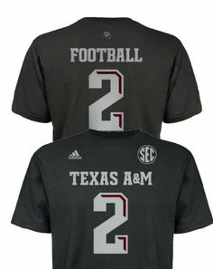 Johnny Football Manziel Texas A&M Aggies Jersey Name and Number T-shirt adidas. $24.99