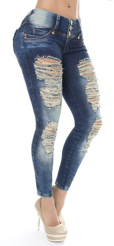 Jeans levanta cola LUJURIA 78621 - Jeans Colombianos