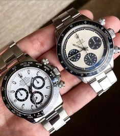 Which Panda Rolex Daytona would be your choice? 👈 or 👉 . 📸: @kkevalll . . . Read out thoughts on the Daytona on our journal at www.everestbands.com (LINK IN BIO) Rolex Daytona, Rolex Watches, Mens Winter, Winter Fashion, Panda, Journal, Thoughts, Stuff To Buy, Accessories