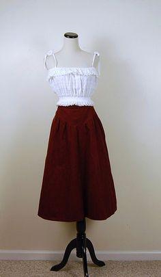 Vintage Wine Jessica's Gunnies Skirt by CheekyVintageCloset, $24.00