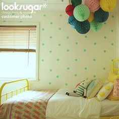 Polka Dot Wall Decals - Circle Stencils Pattern Wall Stickers - 80 x 2.5 inch Dots on Etsy, $44.30