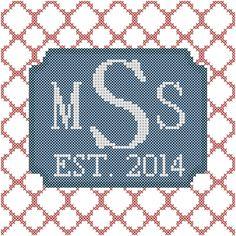 Cross Stitch Pattern Modern Style Simple by oneofakindbabydesign, $12.95