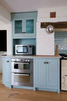 Image result for celestial blue kitchen cabinets
