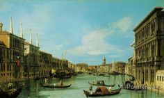 Giovanni Antonio Canal (called Canaletto),Venice:  The Grand Canal From The Palazzo Vendramin Calergi Towards S. Geremia oil painting reproductions for sale