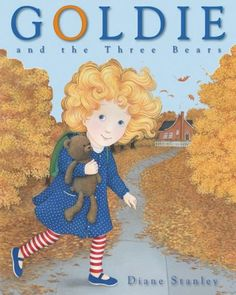 """In this story, loosely based on that of Goldilocks, Goldie, who has yet to find a friend to """"love with all her heart,"""" makes an unplanned visit to the house of some bears."""