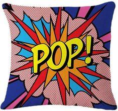 Pop Pow Kaboom Art Linen Throw Pillows-18 Different Scenes! Roy Lichtenstein Pop Art, Comic Kunst, Comic Art, Comic Books, Comic Style Art, Cuadros Pop Art, Power Pop, Poetry Art, Pop Culture Art