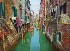 Oleg Turchin Quiet Canal Venice - Southwest Gallery: Not Just Southwest Art.