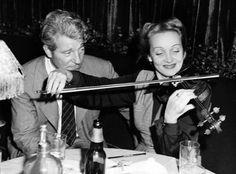 Jean Gabin and Marlene Dietrich at La Vie Parisienne in New York City, Hollywood Music, Hollywood Heroines, Hollywood Actor, Golden Age Of Hollywood, Classic Hollywood, Old Hollywood, Marlene Dietrich, Lili Marlene, Katharine Hepburn