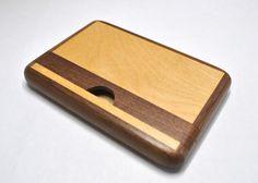 木製ツートンカードケース(ウォールナット、メープル) | クラフト | ハンドメイドマーケット creaco(クリエーコ)