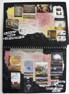 AS Photography Sketchbook, Brainstorm, 'Structure and Environment', Thomas Rotherham College, 2014