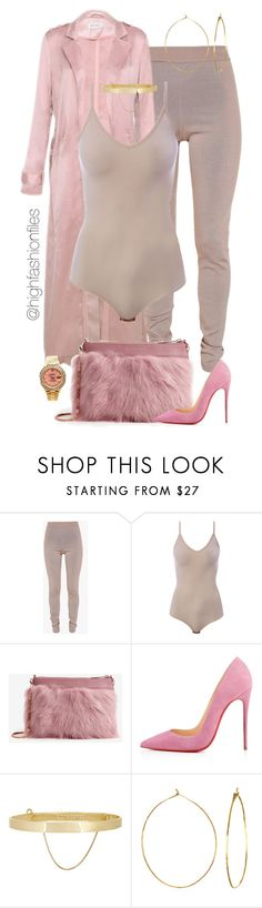 """""""Pink Panther"""" by highfashionfiles ❤ liked on Polyvore featuring Balmain, Intimissimi, Ted Baker, Christian Louboutin, Eddie Borgo, Phyllis + Rosie and Rolex"""