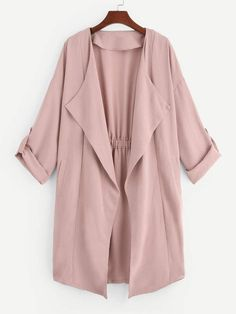 To find out about the Waterfall Collar Solid Coat at SHEIN, part of our latest Outerwear ready to shop online today! Classy Outfits, Casual Outfits, Fashion News, Fashion Outfits, Abaya Fashion, Outerwear Jackets, Coat, How To Wear, Clothes