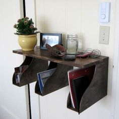 IKEA Hack Mail Rack - Maybe with an additional 2 files this would work for journals on the desk?