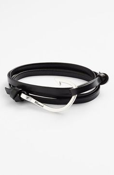Free shipping and returns on Miansai Silver Hook Leather Bracelet at Nordstrom.com. A logo-embossed, silver-plated hook fastens this stylish bracelet handmade in America from thin stripes of vegetable-tanned, full-grain Italian leather.