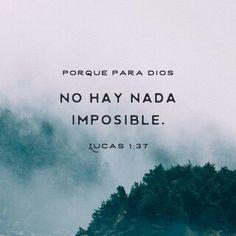 Nada inposible para El.