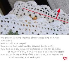 two tutorials  on how to make nice edgings to your crochet granny square blankets iobviously need some tutorials a I had a bit of dificulty with my most recent attempts!