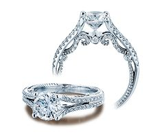 INSIGNIA-7063 - INSIGNIA-7063 engagement ring from the Insignia Collection, featuring 0.40Ct. of round brilliant diamonds to enhance a round diamond center.    Available in Platinum and Gold.