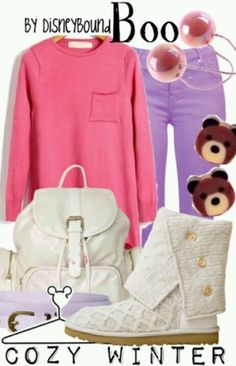 Boo inspired outfit by Disney Bound. Disneybound Outfits, Outfits Niños, Fandom Outfits, Winter Outfits, Fashion Outfits, Cute Disney Outfits, Disney Themed Outfits, Disney Dresses, Disney Clothes