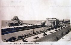 """Ostia, Stabilimento """"Roma"""" Anno: 1929 Old Photos, Rome, Louvre, Building, Travel, San, Antique, History, Vintage"""