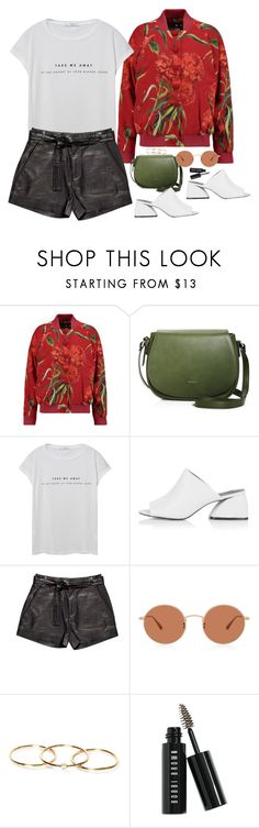 """""""Untitled #1761"""" by samikayy76 on Polyvore featuring Dolce&Gabbana, MANGO, Topshop, IRO and Bobbi Brown Cosmetics"""