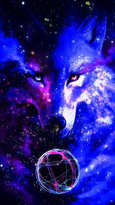 Wolf Pack Legend - making 🐺🐺DIY Beautiful Wolf Crafts,Activities,Gifts & Decor? Tier Wallpaper, Wolf Wallpaper, Animal Wallpaper, Mythical Creatures Art, Fantasy Creatures, Wolf Craft, Galaxy Wolf, Wolf Spirit Animal, Wolf Artwork