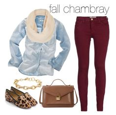 """""""fall chambray"""" by rachelrx ❤ liked on Polyvore featuring Mode, Current/Elliott…"""