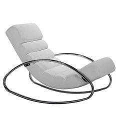 摇椅 PU面+镀铬脚 J1431-1 W620*D1100*H810 mm