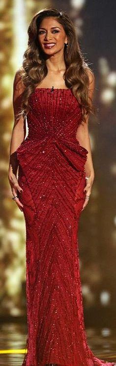 Nicole Scherzinger: Dress – Ziad Nakad  Shoes – Gianmarco Lorenzi