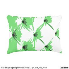 Star Bright Spring Green Accent Pillow by Janz