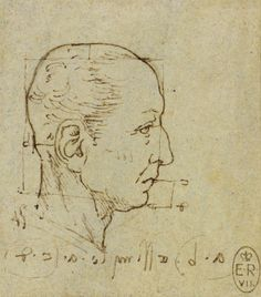 A study of the proportion of the head, Leonardo da Vinci Body Drawing, Life Drawing, Figure Drawing, Drawing Exercises, Learn Art, Historical Art, Drawing Lessons, Old Master, Texture Art
