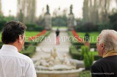 Da sinistra, Max Fazenda [co-protagonista] e Roberto Pavin [co-protagonista].  Location: villa Ca' Marcello, Levada di Piombino Dese.