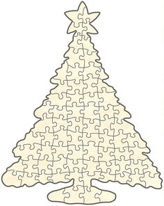 Christmas Tree Puzzle, 72 Pieces