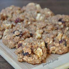 Apple-Cran Oatmeal Cookies  Guilt free cookies!